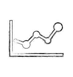 Statistics diagram pictograph vector