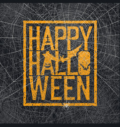 text spider web background vector image