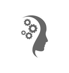 thinking-head vector image