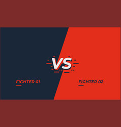 Versus screen design battle headline template vector