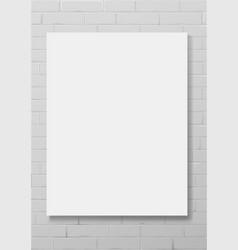 vertical white empty frame vector image