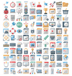 web design and development isolated icons vector image