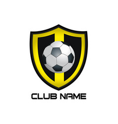 yellow football emblem vector image
