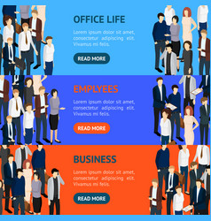 business people resource banner horizontal set vector image vector image