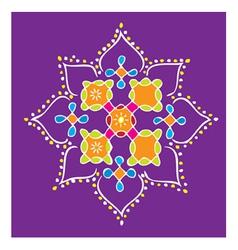 Indian Kolam vector image