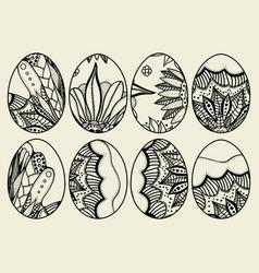 sketch ornate easter eggs vector image