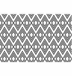 black and white seamless geometric pattern vector image
