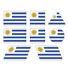 buttons with flag of Uruguay vector image