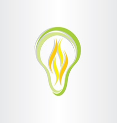 green eco low energy bulb icon vector image vector image