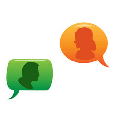 people communicated in color speech bubble vector image
