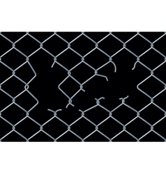 Seamless damaged chain-link fence vector