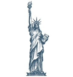 USA logo design template United States or statue vector image vector image
