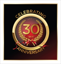 30 years anniversary label vector image