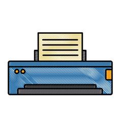 computer printer device vector image vector image