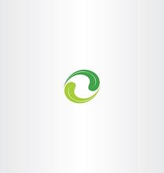 Ecology leaf circle green logo icon vector