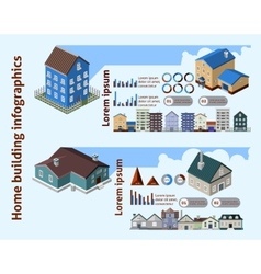 Home Building Infographics vector image