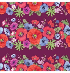 Beautiful flower seamless pattern with poppy vector