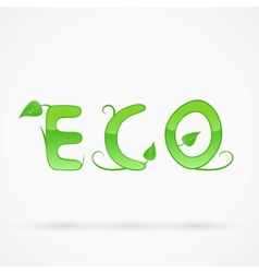 Eco Title vector image vector image