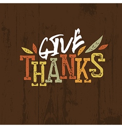 Happy Thanksgiving design For holiday greeting vector image vector image
