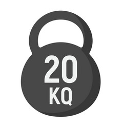 kettlebell flat icon fitness and sport workout vector image