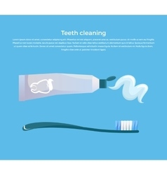 Teeth Cleaning Concept Design Banner vector image vector image