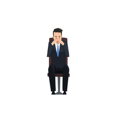 thoughtful businessman or manager character vector image