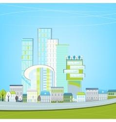 02 Eco City landscape vector