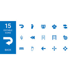 15 back icons vector
