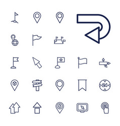 22 pointer icons vector image