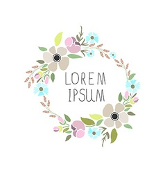 A floral wreath with signature vector
