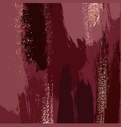 abstract grunge pattina effect dark red gold vector image