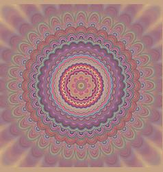 Abstract mandala fractal background - circular vector