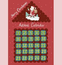 Advent calendar in shape a house vector