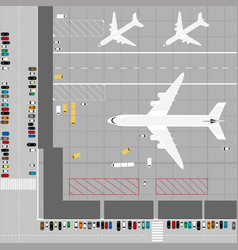 aerial view an airport vector image