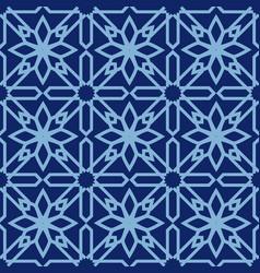 arabic seamless pattern mosaic oriental vector image