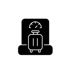 Baggage weight black glyph icon vector