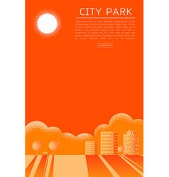 beautiful city park texture style concept vector image