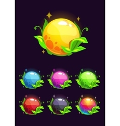 Beautiful colorful shiny nature elements vector