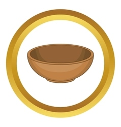 Big bowl icon vector