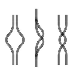 Bike tire tracks vector