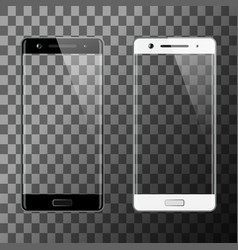 black and white smartphones isolated vector image