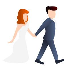 Bride icon cartoon style vector