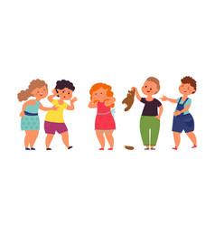 bullying children aggressive teenage teens vector image