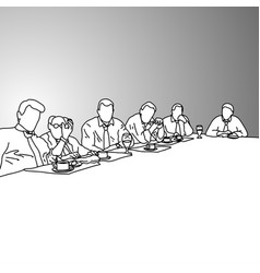 Business people in a conference room vector