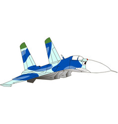 caricature an jet fighter vector image