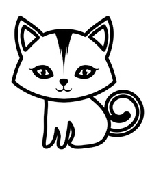cat small mammal furry outline vector image