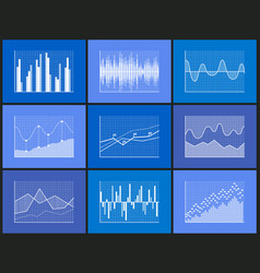 charts representation of info vector image