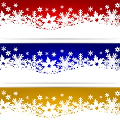 Christmas banners with snowflakes vector