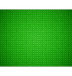 Christmas green background with knit texture vector image