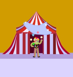 Clown boy vector image